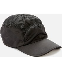 ganni women's ruched cap - black