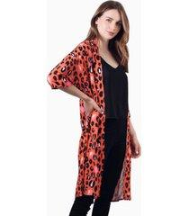 kimono alex animal print red jacinta tienda