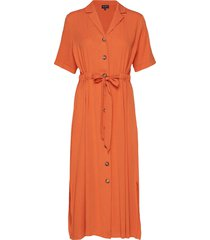 slfcally 2/4 midi dress ex jurk knielengte oranje selected femme