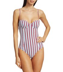 belle striped one-piece swimsuit