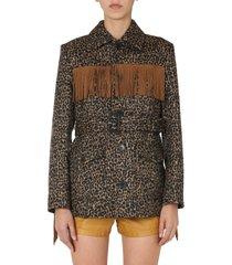saint laurent jacket with fringes