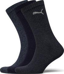 puma crew sock light 3p underwear socks regular socks blå puma