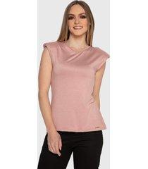 blusa regata muscle tee carbella regata modal confort com ombreira rosa - rosa - feminino - poliã©ster - dafiti