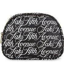logo dome zip-around pouch