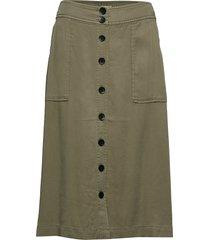 kevonna sk knälång kjol grön part two