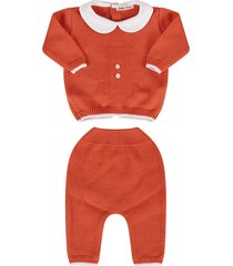 little bear orange babyboy suit with iconic bear