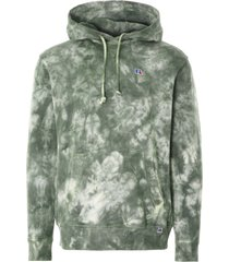 russell athletic tie-dyed river hoodie | leaf | e06372-lef