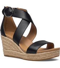 w hylda sandalette med klack espadrilles svart ugg