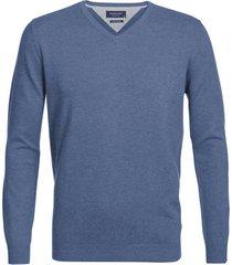 profuomo trui v-hals jeans blue