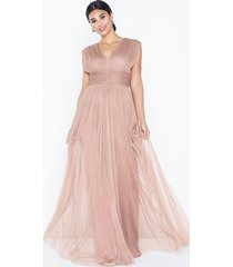 anaya gathered tulle maxi dress maxiklänningar