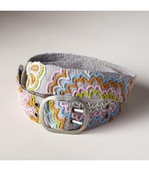 women's art blossom wool belt