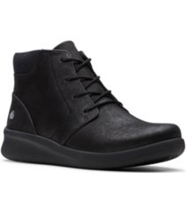 clarks cloudsteppers women's sillian 2.0 way lace-up booties women's shoes