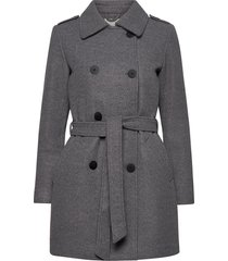 onlsansa wool coat cc otw wollen jas lange jas grijs only