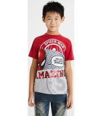 spiderman t-shirt reversible sequins - red - 13/14