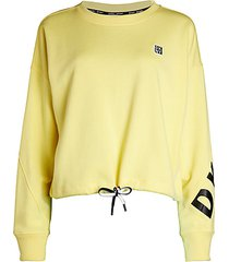drawstring crop sweatshirt