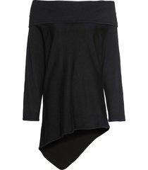 maglione oversize con spalle scoperte (nero) - bodyflirt