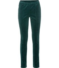 leggings in velluto (petrolio) - bodyflirt