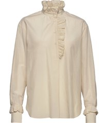 frillo ls blouse blouse lange mouwen beige second female
