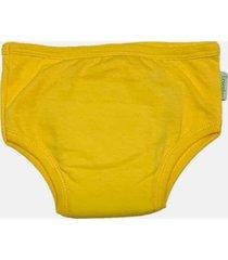 calcinha desfralde eco&play amarela - amarelo - menina - algodã£o - dafiti