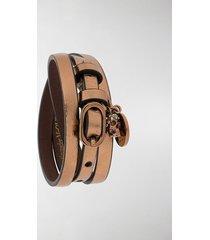 alexander mcqueen wrap-around leather bracelet