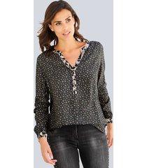 blus alba moda antracitgrå::gammalrosa::offwhite