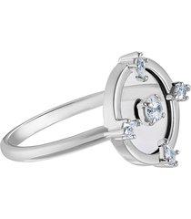 anel feminino north motif em metal - ródio