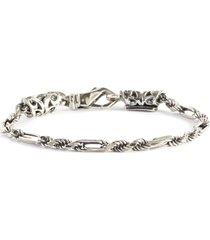 alternate silver chain bracelet