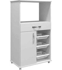 armário cozinha com fruteira fortaleza arte móveis branco