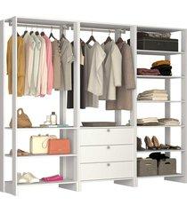 guarda roupa closet 3 peças 2 cabideiros
