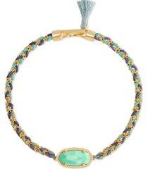 kendra scott gold-tone elaina stone friendship bracelet