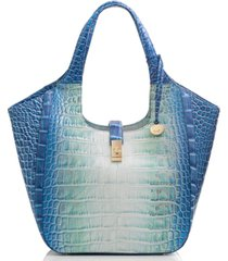 brahmin carla soleil embossed leather tote