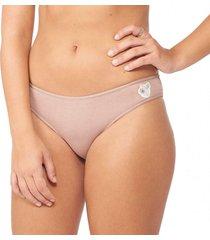 calcinha básica patch nozes capricho - 545.021 capricho lingerie básica bege
