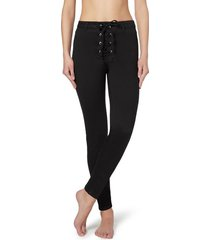 calzedonia denim leggings with crisscross pattern and detail at the waist woman black size m