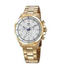 relógio cronógrafo seculus masculino - 20819gpsgds3 dourado