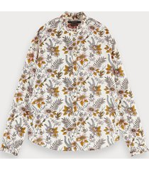 scotch & soda blouse met all-over print