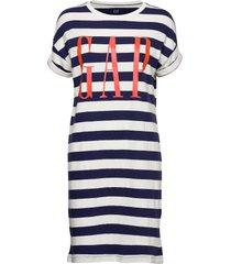 gap ss tee drs exp knälång klänning multi/mönstrad gap
