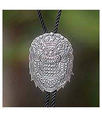 sterling silver string tie, 'hero' (indonesia)