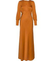 rosalia silk dress maxiklänning festklänning orange notes du nord