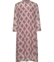 elm shirt dress aop 9695 knälång klänning rosa samsøe samsøe