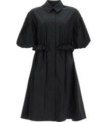 simone rocha oversized shirt dress twisted hip