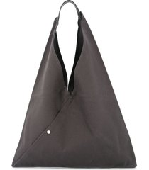 cabas triangle shaped tote - grey