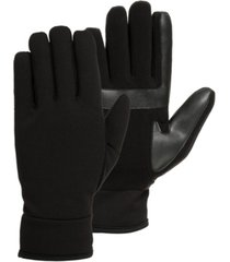 isotoner signature men's lined water repellent tech stretch glove