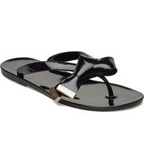luzzi shoes summer shoes flat sandals svart ted baker