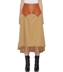 'obi' curved waist panel midi skirt