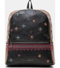 medium boho backpack - black - u