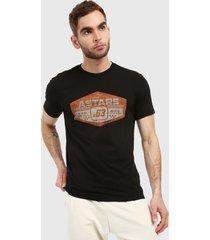 camiseta negro-naranja-blanco alpinestars premium tee
