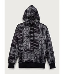 hoodie estampado bandana para mujer freedom 01806