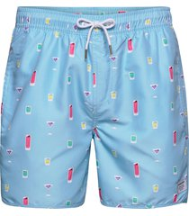 swim shorts drinks badshorts blå dedicated