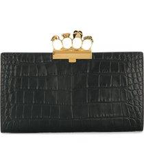 alexander mcqueen knuckle duster clutch bag - black