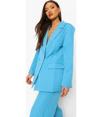 mix & match felle getailleerde blazer, bright blue